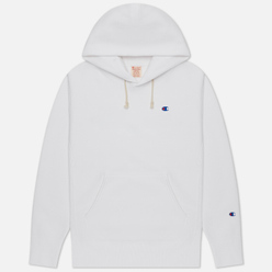 Мужская толстовка Champion Reverse Weave Small Logo Chest And Sleeve Hooded White