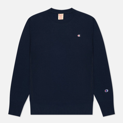 Мужская толстовка Champion Reverse Weave Small Logo Chest And Sleeve Crew Neck Navy