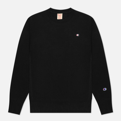 Мужская толстовка Champion Reverse Weave Small Logo Chest And Sleeve Crew Neck Black