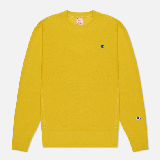 Мужская толстовка Champion Reverse Weave Small Logo Chest And Sleeve Crew Neck Gold Tips