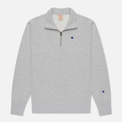 Мужская толстовка Champion Reverse Weave Small Logo Chest And Sleeve Half Zip Light Grey