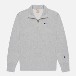Мужская толстовка Champion Reverse Weave Small Logo Chest And Sleeve Half Zip Light Grey