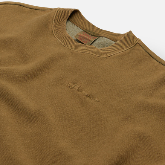 Мужская толстовка Champion Reverse Weave Script Logo Drop Shoulder Olive Green