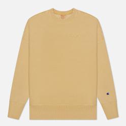 Мужская толстовка Champion Reverse Weave Script Logo Drop Shoulder Light Brown