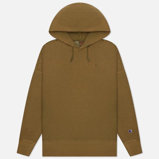 Мужская толстовка Champion Reverse Weave Script Logo Embroidery Hooded Military Green