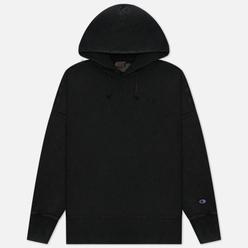 Мужская толстовка Champion Reverse Weave Script Logo Embroidery Hooded Black