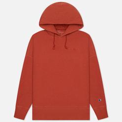 Мужская толстовка Champion Reverse Weave Script Logo Embroidery Hooded Red
