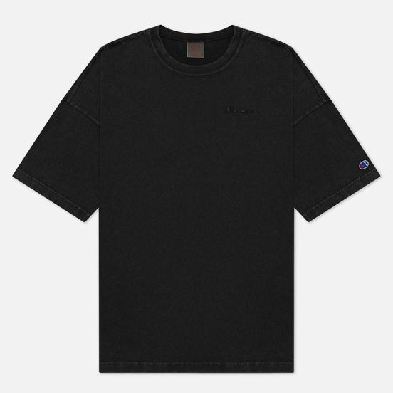 Мужская футболка Champion Reverse Weave Script Logo Drop Shoulder Black