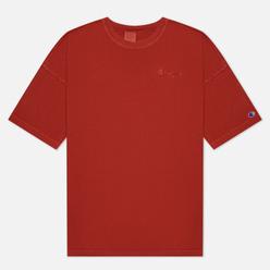 Мужская футболка Champion Reverse Weave Script Logo Drop Shoulder Sandy Brown