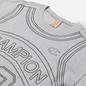 Мужская футболка Champion Reverse Weave Athletic Jersey Combed Number 17 Light Grey фото - 1