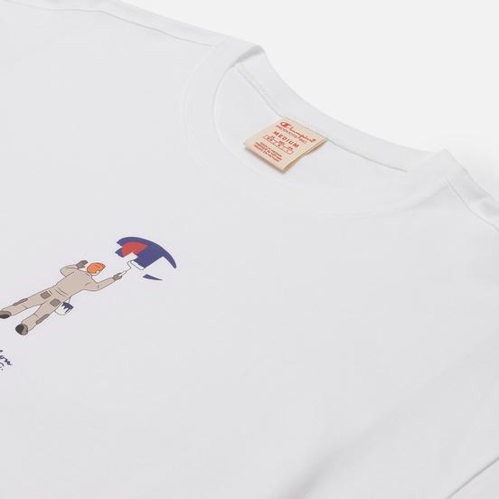 Мужская футболка Champion Reverse Weave Logo Graphic Motif Printed 6 White