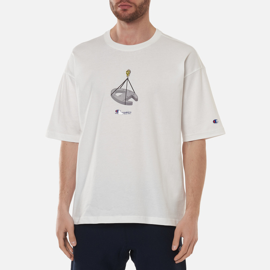 Мужская футболка Champion Reverse Weave Logo Graphic Motif Printed 7 White