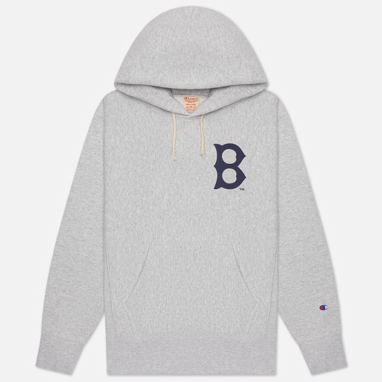 Мужская толстовка Champion Reverse Weave Boston Red Sox Hoodie Light Grey