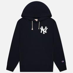 Мужская толстовка Champion Reverse Weave New York Yankees Hoodie Dark Blue