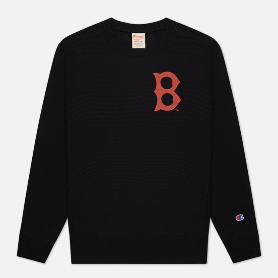 Мужская толстовка Champion Reverse Weave Boston Red Sox Crew Neck Black