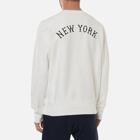 Мужская толстовка Champion Reverse Weave New York Yankees Crew Neck White