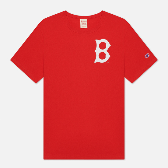 Мужская футболка Champion Reverse Weave Boston Red Sox Crew Neck Racing Red