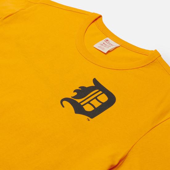 Мужская футболка Champion Reverse Weave Detroit Tigers Crew Neck Zinnia Orange