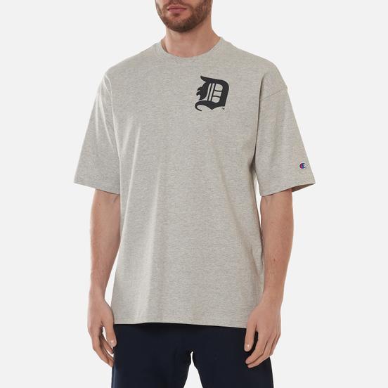 Мужская футболка Champion Reverse Weave Detroit Tigers Crew Neck Light Grey