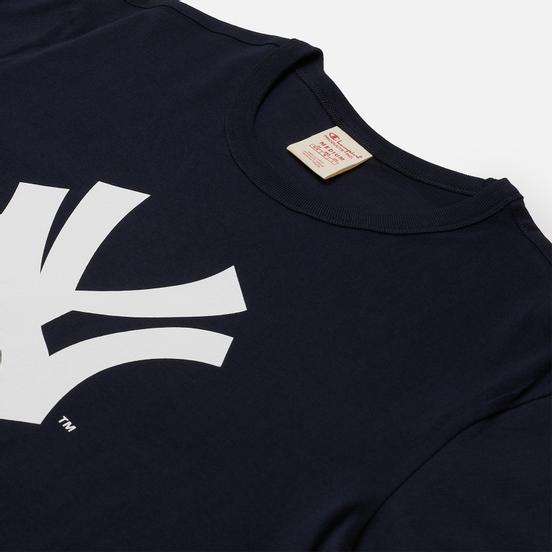 Мужская футболка Champion Reverse Weave New York Yankees Crew Neck Dark Blue