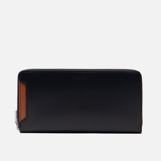 Кошелек Master-piece Notch Leather Round Zipper Navy