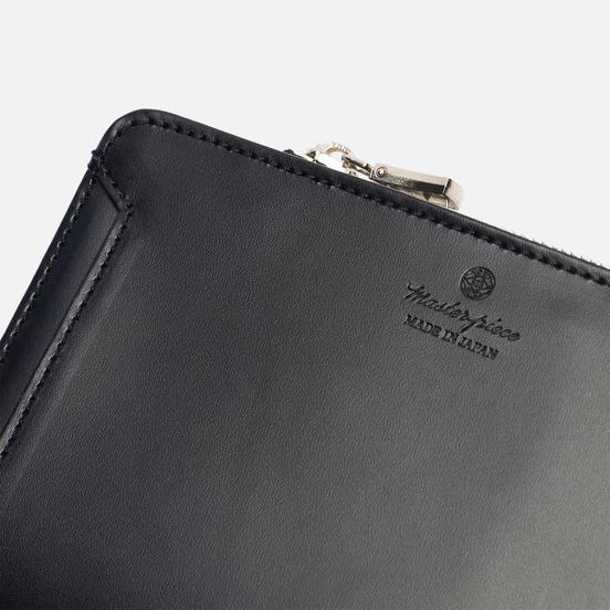 Кошелек Master-piece Notch Leather Middle Fastener Black