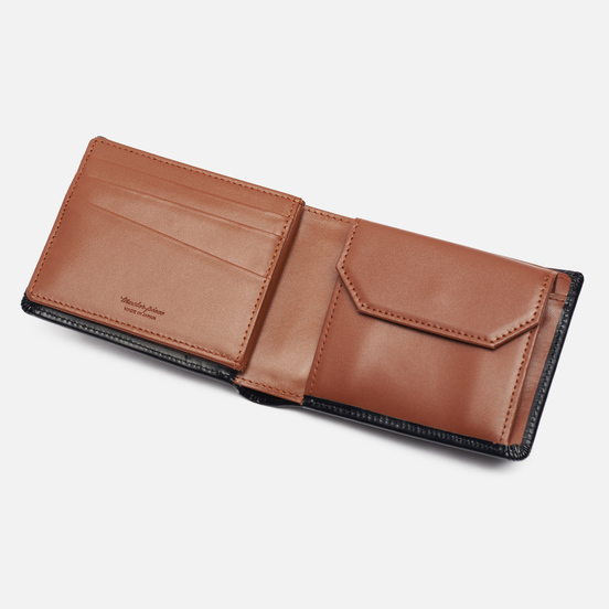 Кошелек Master-piece Notch Leather Billfold Middle Black