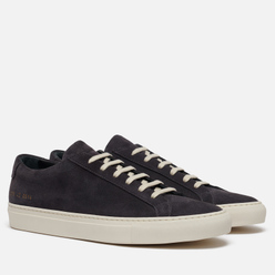 Мужские кеды Common Projects Achilles Low Suede Glassa Sole Washed Black