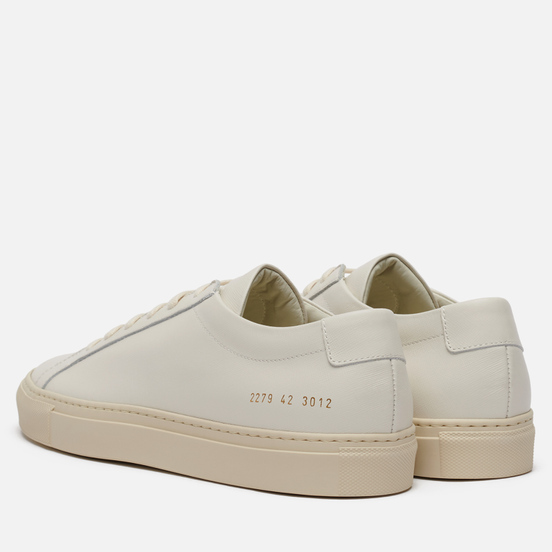 Мужские кеды Common Projects Achilles Contrast Saffiano Sole Off White