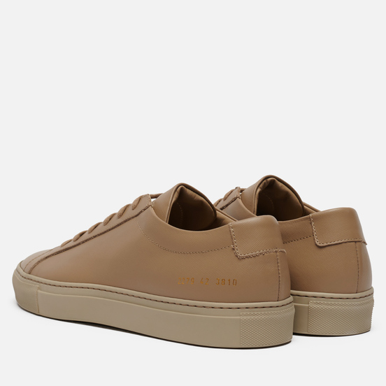 Мужские кеды Common Projects Achilles Contrast Saffiano Sole Clay