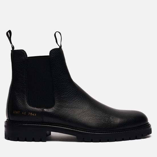 Мужские ботинки Common Projects Winter Chelsea Bumpy 2287 Black