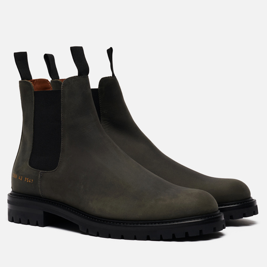 Мужские ботинки Common Projects Winter Chelsea 2288 Black