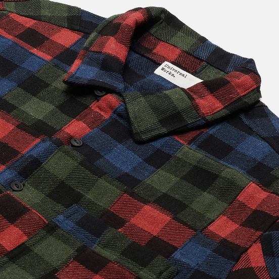 Мужская рубашка Universal Works Garage II Brushed Patchwork Multi