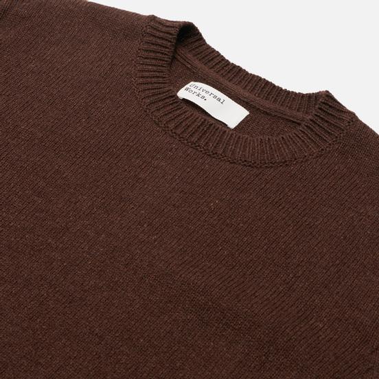Мужской свитер Universal Works Loose Crew Neck Recycled Wool Chocolate