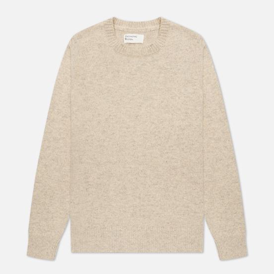 Мужской свитер Universal Works Loose Crew Neck Recycled Wool Natural