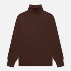 Мужской свитер Universal Works Roll Neck Recycled Wool Chocolate