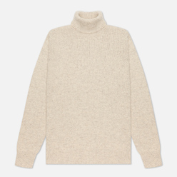 Мужской свитер Universal Works Roll Neck Recycled Wool Natural