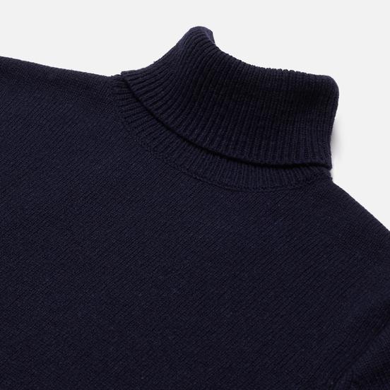 Мужской свитер Universal Works Roll Neck Recycled Wool Navy