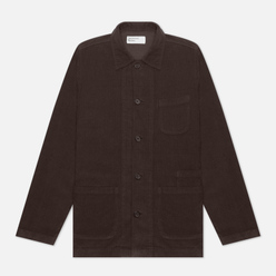 Мужская рубашка Universal Works Bakers Overshirt Fine Cord Chocolate