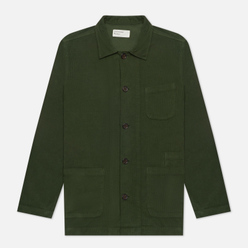 Мужская рубашка Universal Works Bakers Overshirt Fine Cord Green