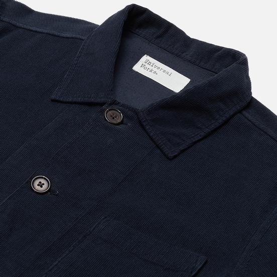 Мужская рубашка Universal Works Bakers Overshirt Fine Cord Navy