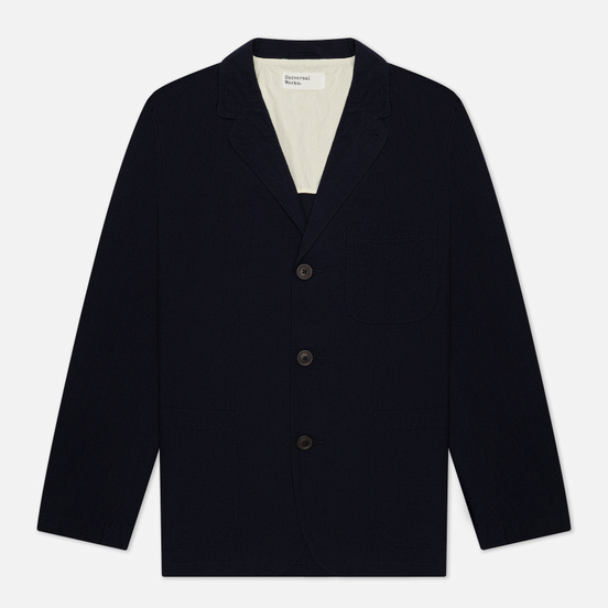 Мужской пиджак Universal Works Three Button Ripstop Cotton Navy