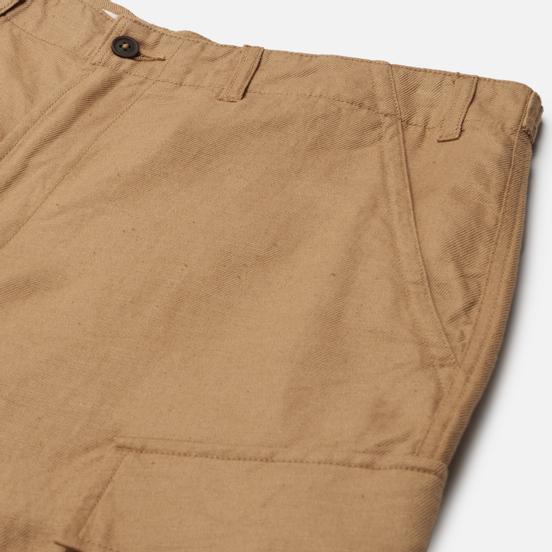 Мужские шорты Universal Works MW Cargo Linen-Cotton Suiting Sand