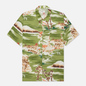 Мужская рубашка Universal Works Road Fuji Summer Print Green фото - 0
