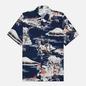 Мужская рубашка Universal Works Road Fuji Summer Print Navy фото - 0