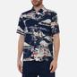 Мужская рубашка Universal Works Road Fuji Summer Print Navy фото - 2