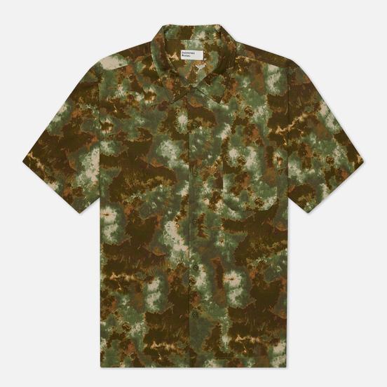 Мужская рубашка Universal Works Road Space Camo Olive