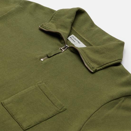 Мужская толстовка Universal Works Half Zip Dry Handle Loopback Olive