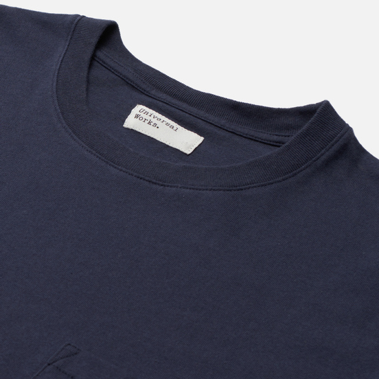 Мужская футболка Universal Works Big Pocket Save That Jersey Indigo