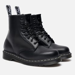 Ботинки Dr. Martens 1460 8 Eye White Stitch Black